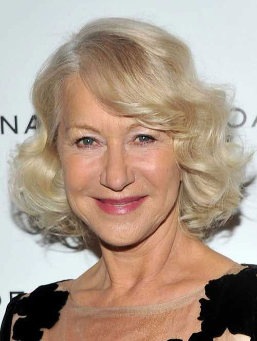 Nice Curly Bob Haircuts for Older Women