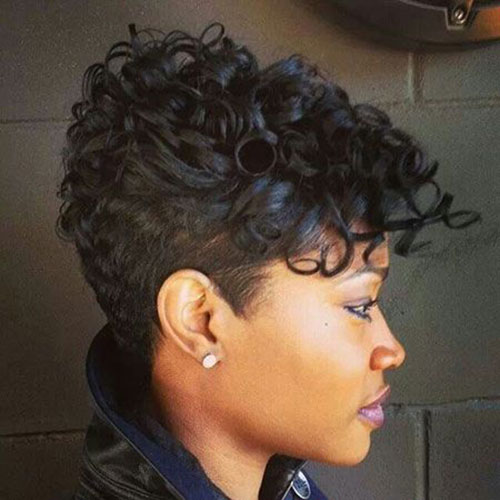 Cute Curly Pixie Hair for Black Women