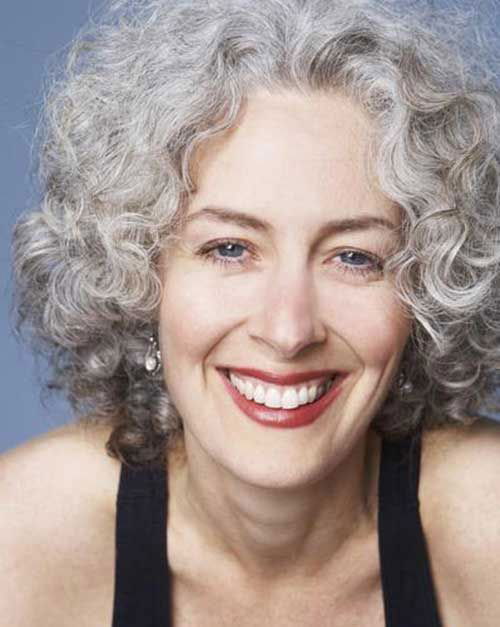 Best Curly Short Hairstyles for Grey Hair