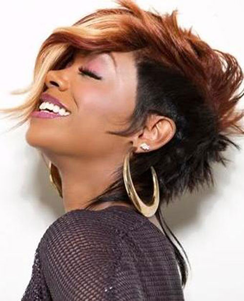 Cute Short Mohawk Hair Styles for Black Women