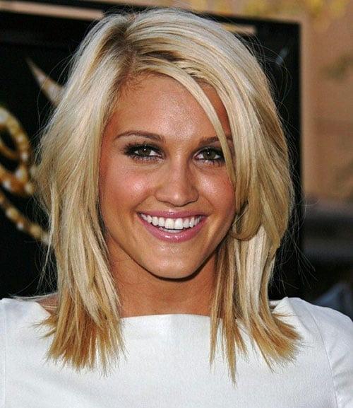 Cute Short Shoulder Length Blonde Hair