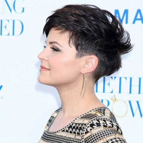 Best Dark Pixie Cut Side View