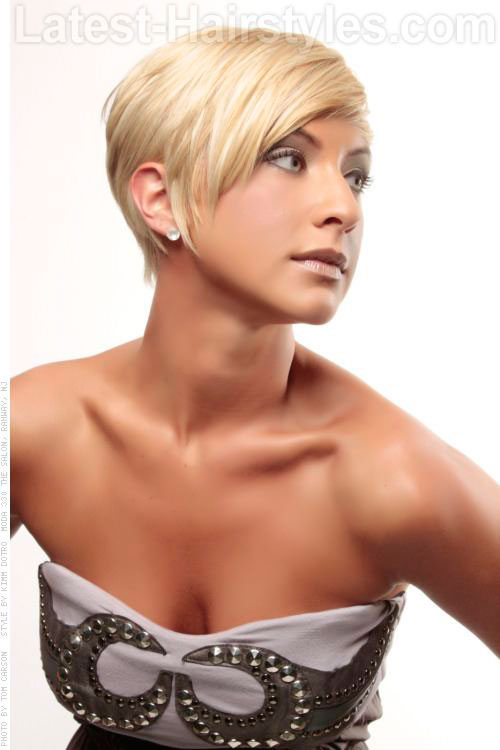 Fine Hair Pixie Cut Side View