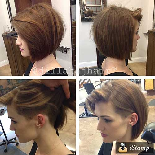 Girls Undercut Bob Hairstyles