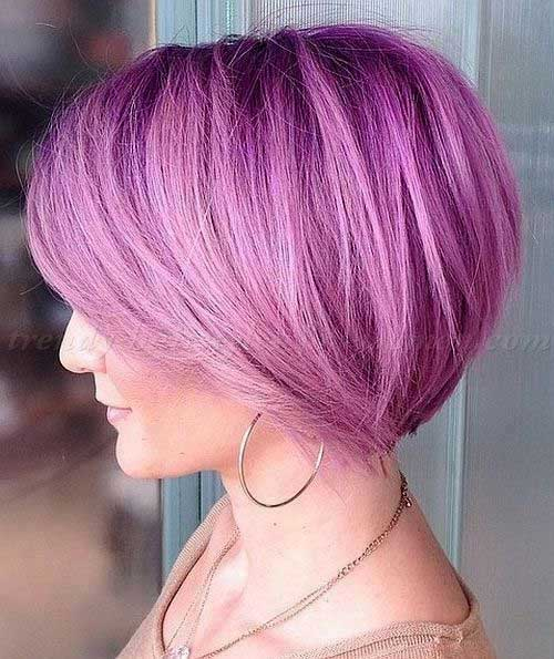 Girls Short Pastel Colored Bob Haircuts