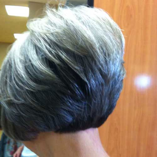 Short Graduated Bob Haircuts for Older Women