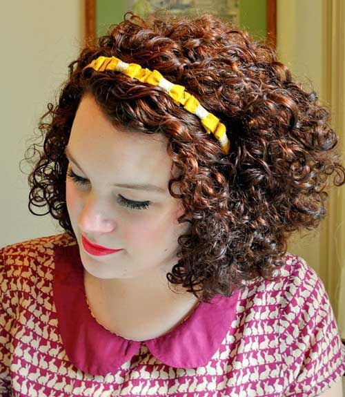 Best Headbanded Short Hairstyles for Curly Thick Hair