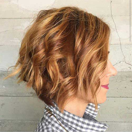 Light Brown Thick Wavy Short Hair Styles