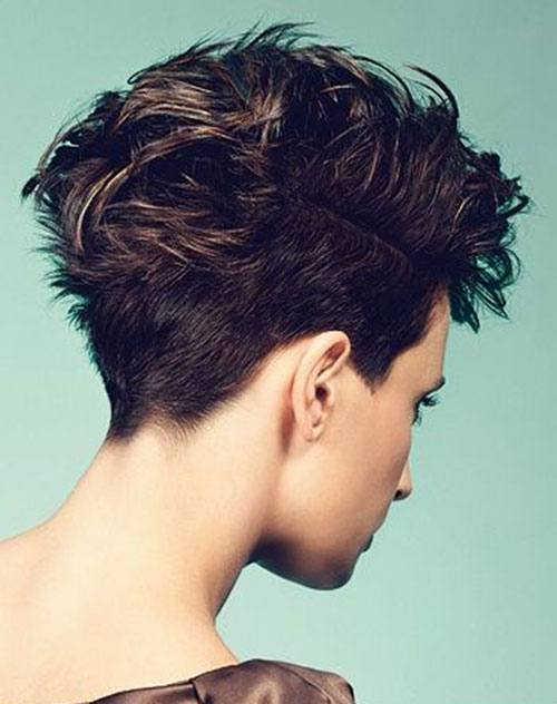 Messy Pixie Cut Side View
