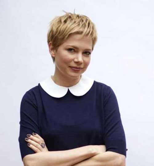 Michelle Williams Nice Blonde Pixie Hair