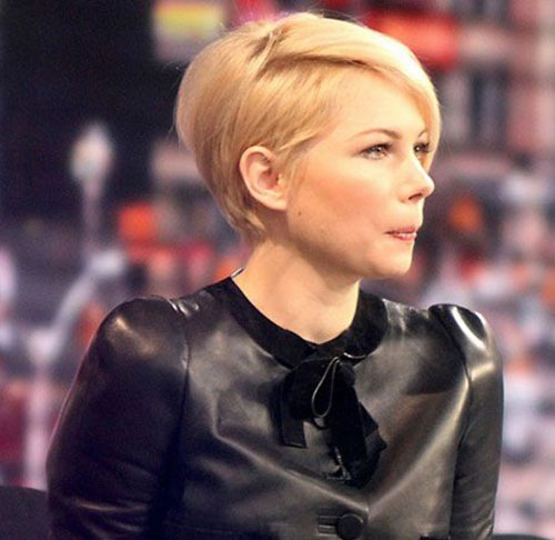 Michelle Williams Pixie Cut Side View Look