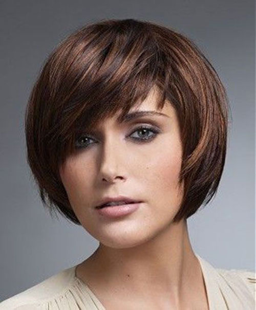New Short Hair Round Face Cuts Styles