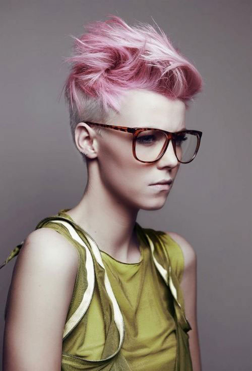 New Short Pink Hair Cuts Ideas