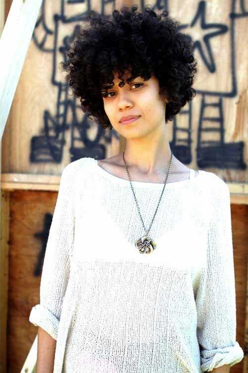 Nice Short Curly Afro Hairstyles