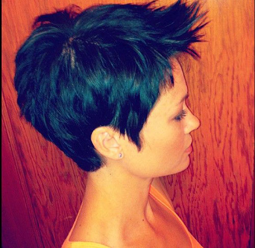 Pixie Hair Side View Look