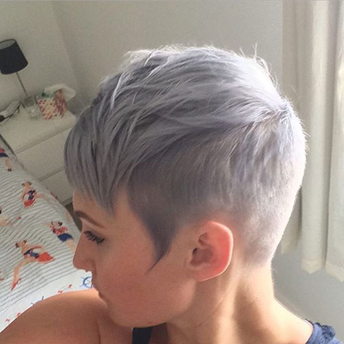Short Pixie Haircuts for Grey Hair