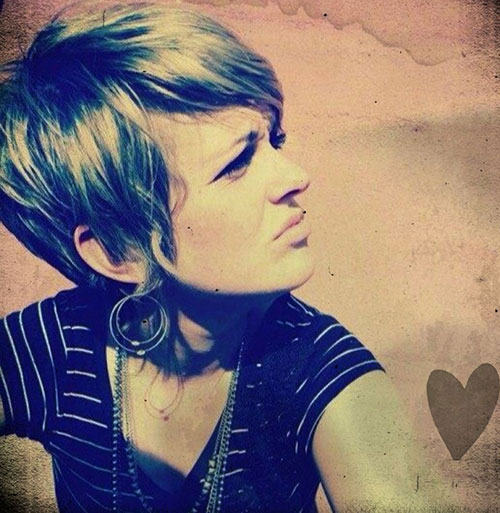 Shaggy Pixie Cut Side View Look