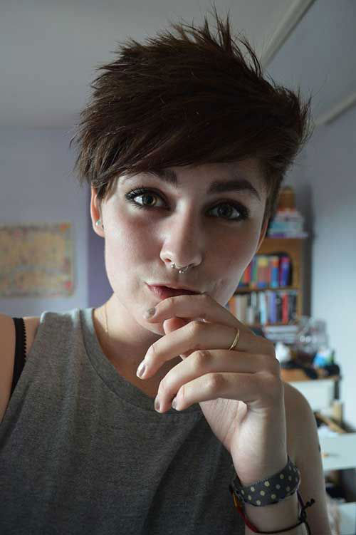 Shaved Pixie Short Hairstyles for Girls