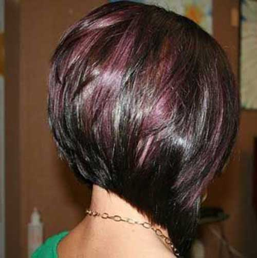 Short Angled Bob Dark Hairstyles