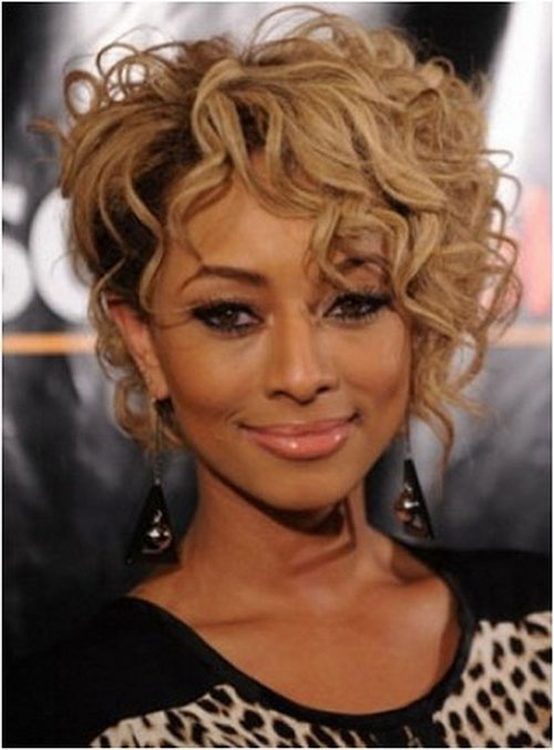 Best Short Blonde Hairstyles for Curly Hair Round Face