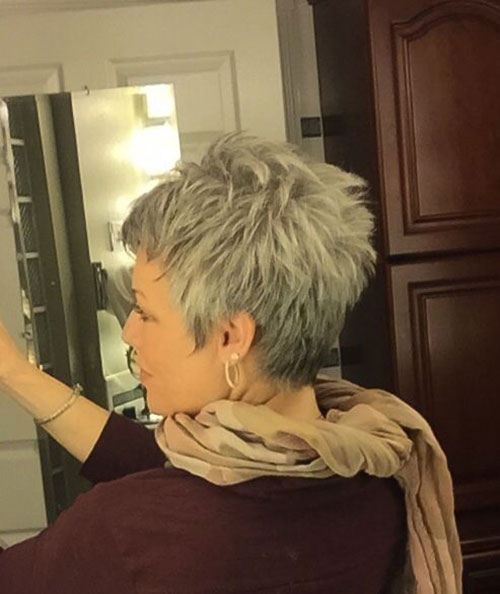 Short Grey Hair Styles Back View