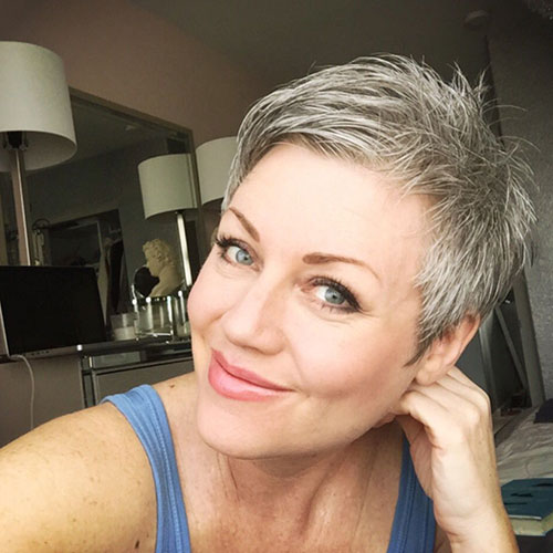 Best Short Grey Haircuts