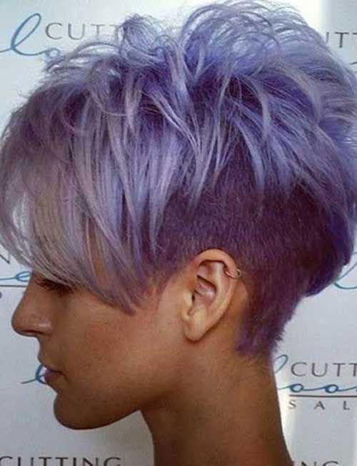 Cool Short Grey Purple Hair Cuts for Girls