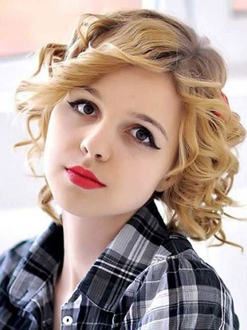 Best Short Hairstyles for Curly Hair Round Face