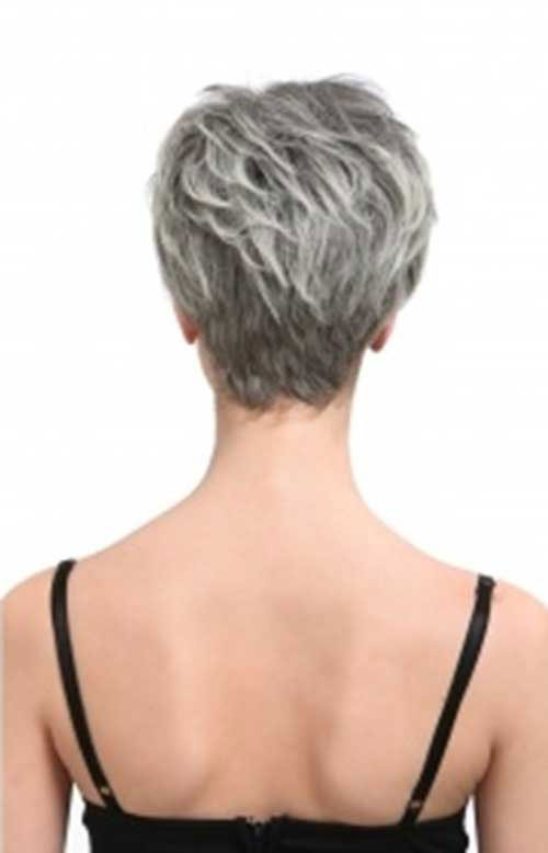 Back View of Short Hairstyles for Grey Hair 2015