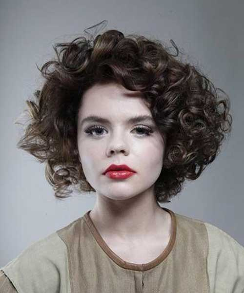 Cute Short Hairstyle For Thick Curly Hair