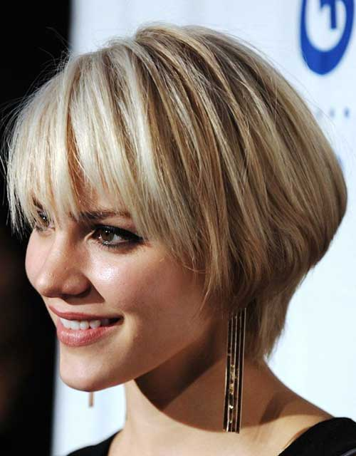 Chic Short Layered Haircuts 2015 with Bangs