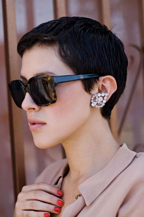 Short Pixie Cut Side View