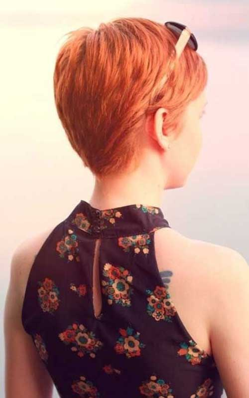 Short Pixie Haircut Back View
