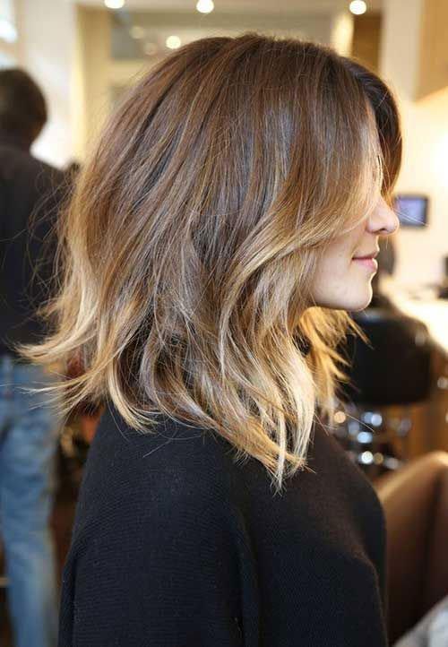 Short Shoulder Length Ombre Haircuts