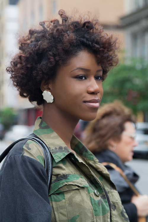 Short Thick Curly Afro Hairstyles
