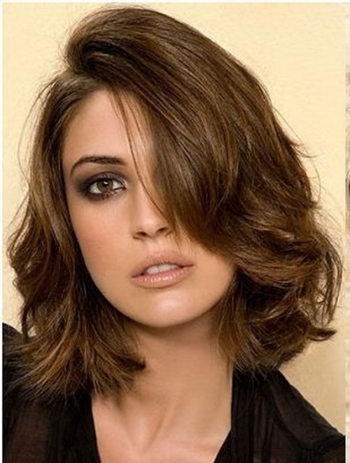 Shoulder Short Dark Brown Haircuts