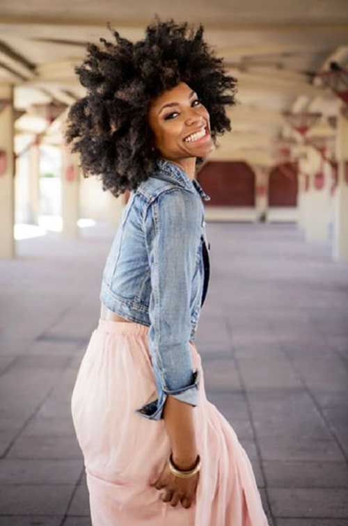Thick Natural Short Afro Hairstyles