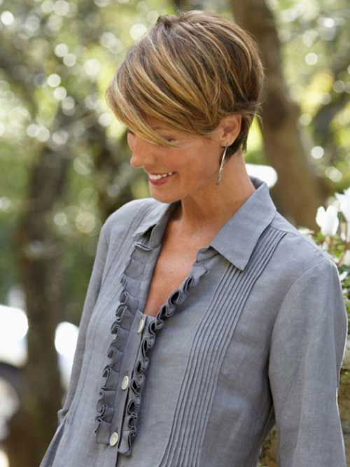 Best Thick Pixie Cut Side View