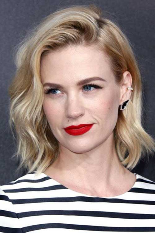 Medium Short Wavy Hairstyles-13