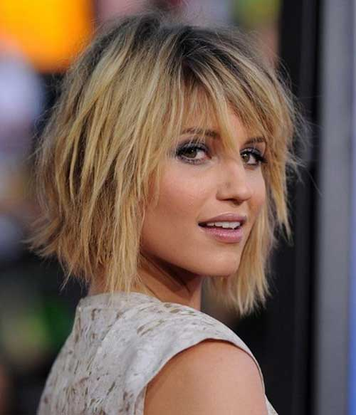 Short Layered Haircuts for Round Faces-14