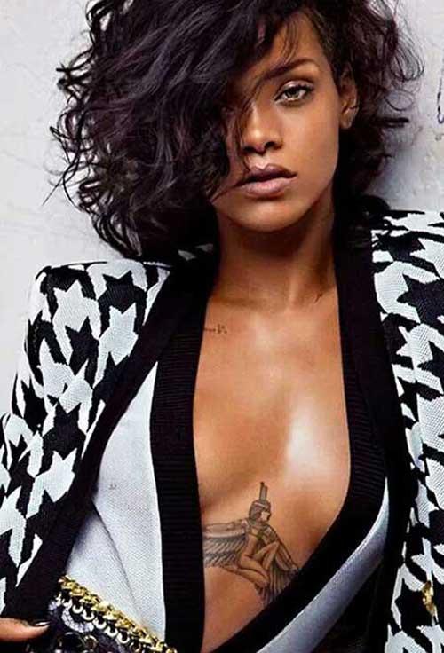 Peachy Rihanna New Short Curly Hair 2016 Short Hair Fashions Short Hairstyles For Black Women Fulllsitofus