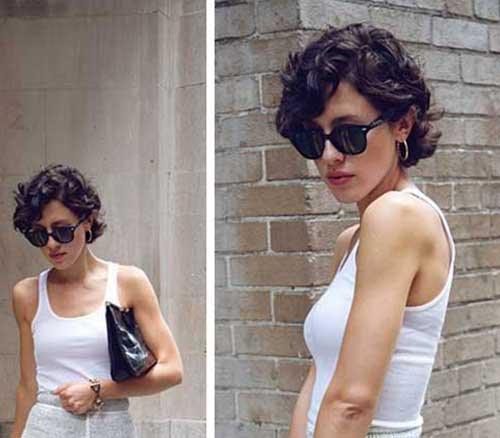 Hairstyles for Short Curly Hair-21