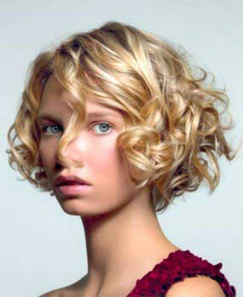 Hairstyles for Short Curly Hair-26