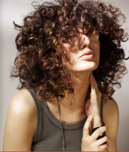 Hairstyles for Short Curly Hair-29