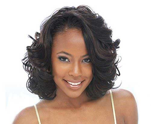 Medium Short Wavy Hairstyles-6