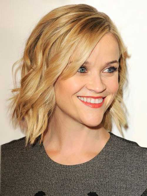 Medium Short Wavy Hairstyles-8