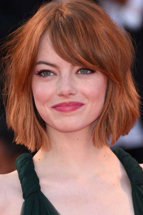Short Layered Haircuts for Round Faces-9