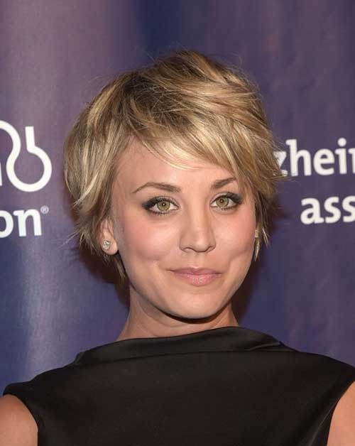 Short Layered Hair for Round Faces