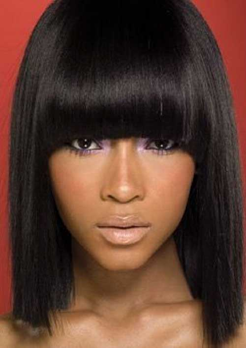 Best Black Hair Styles with Bangs
