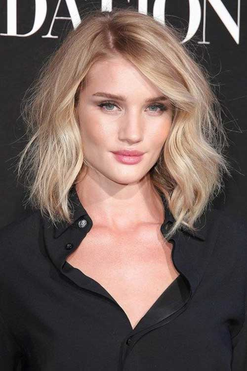 Celebrity Long Bob Rosie Huntington Whiteley